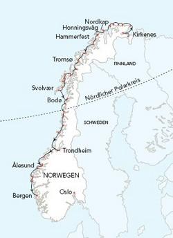 Karte Norwegen Hurtigruten.Hurtigruten Tujareisen