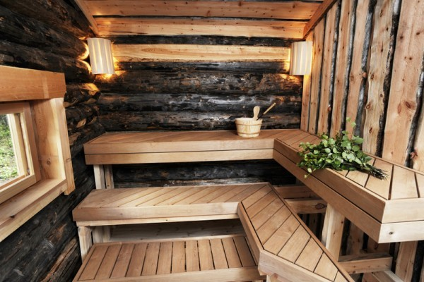 traditionelle holzbeheizte sauna